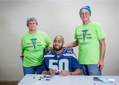 KJ Wright and Moses Lake Medical Team